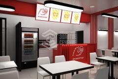 Дизайн интерьера для ресторана по продаже бургеров