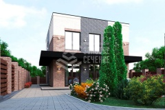 Проект двухэтажного дома «Дом на Кузнечной»