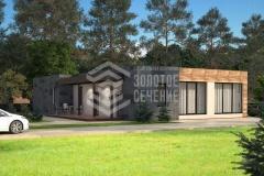 Проект одноэтажного дома «Заповедник минимализма»