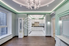 Ремонт 3-комнатной квартиры «Мятное настроение»